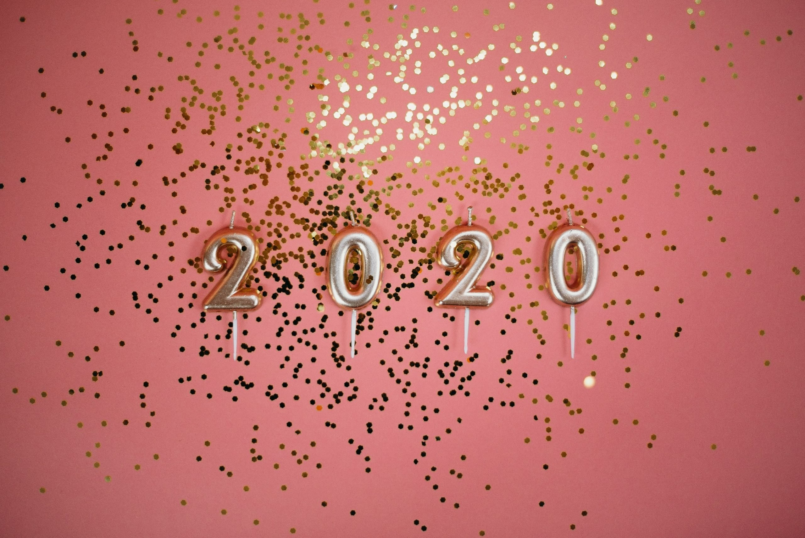 SEO Predictions for 2020 - Debunking the hype. Image shows candles displaying the year 2020.